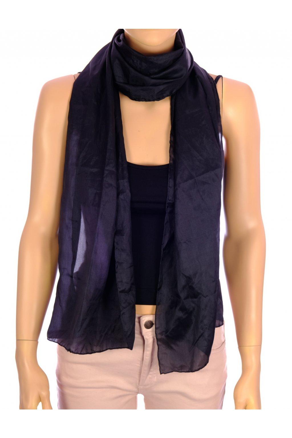 Šátek černý 100% hedvábí