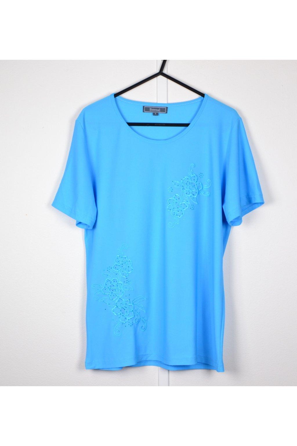 Tričko Eternal vel S/M modré s výšivkou