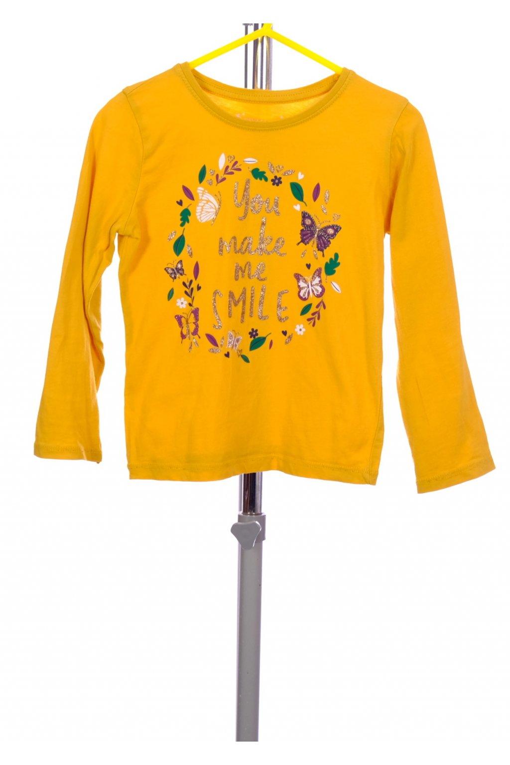 Tričko Primark žluté s obrázkem vel. 104 / 3 - 4 roky