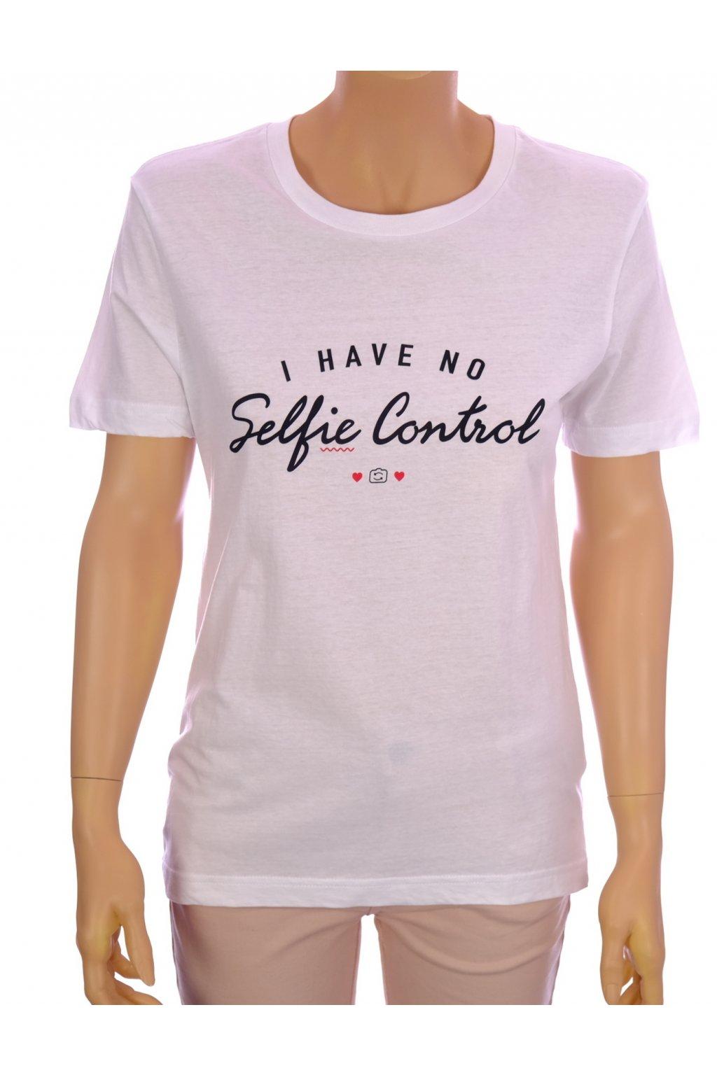 Tričko C&A bílé s nápisem vel. XS