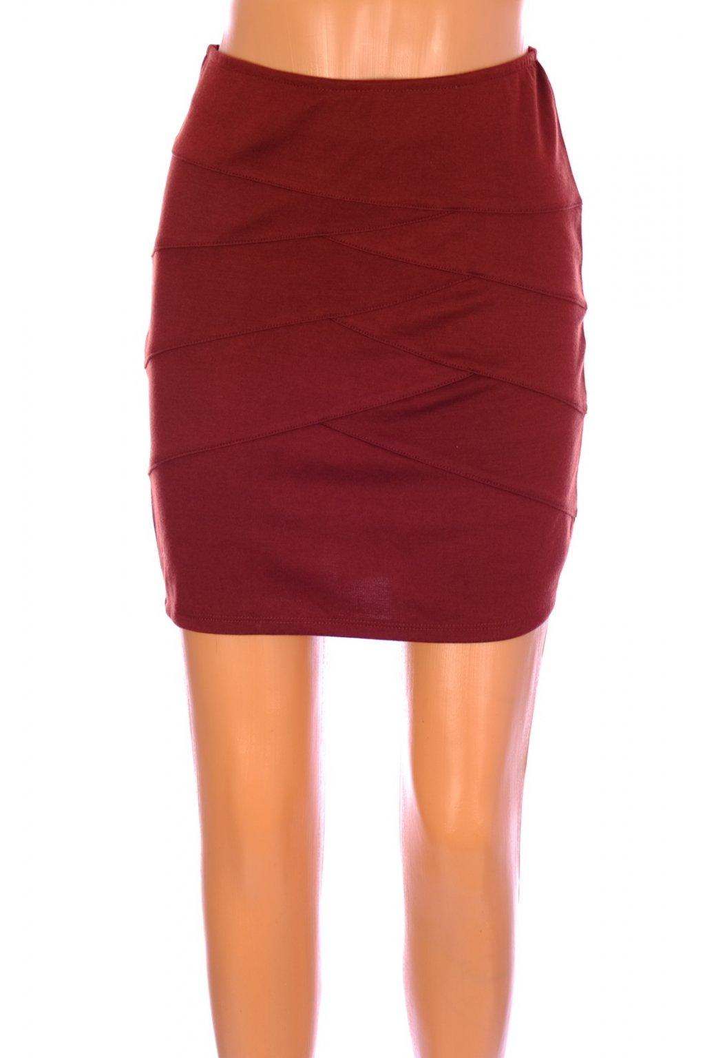 Sukně Amisu červeno hnědá vel. XS