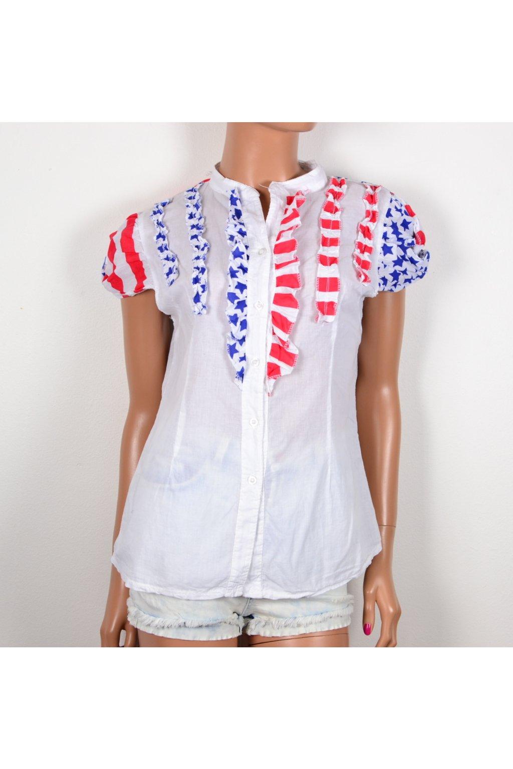košile halenka s americkým vzorem L