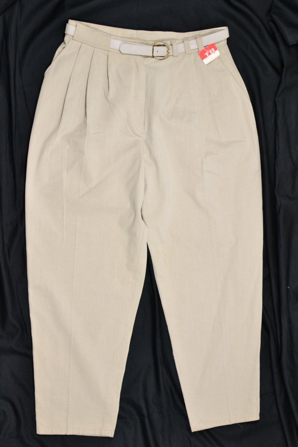 Kalhoty vintage retro Uk18/L-XL béžové nové