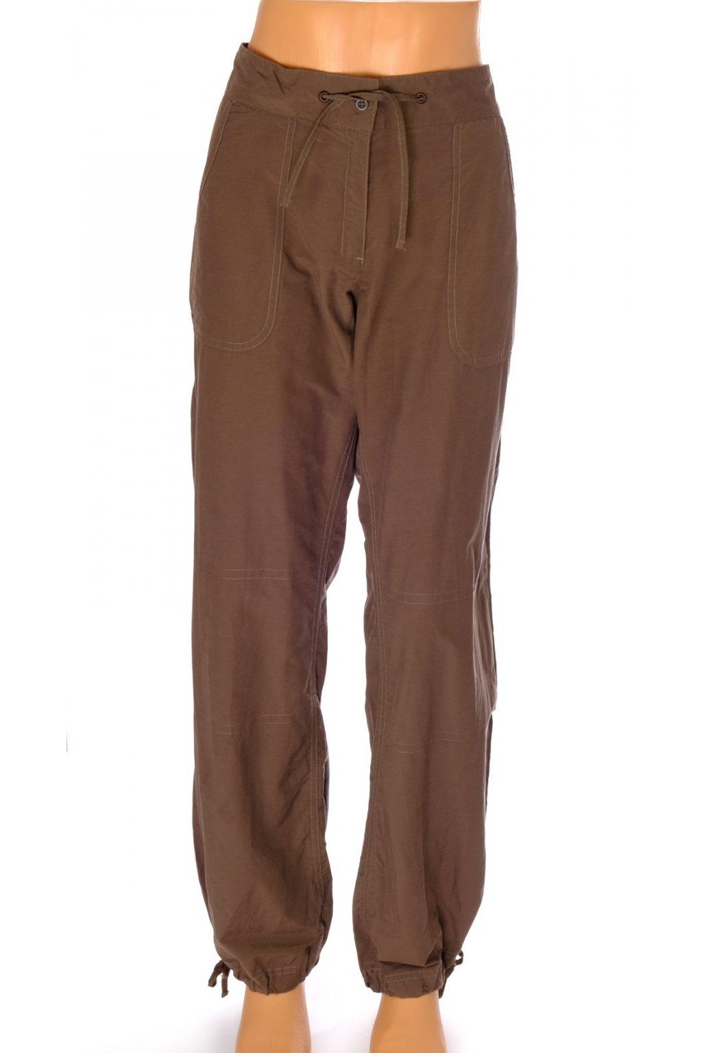 Kalhoty Quechua hnědé plátěné vel XL