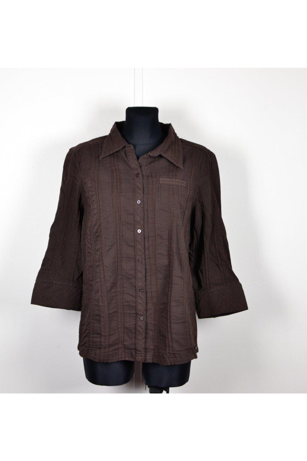 košile halenka hnědá cecil XL