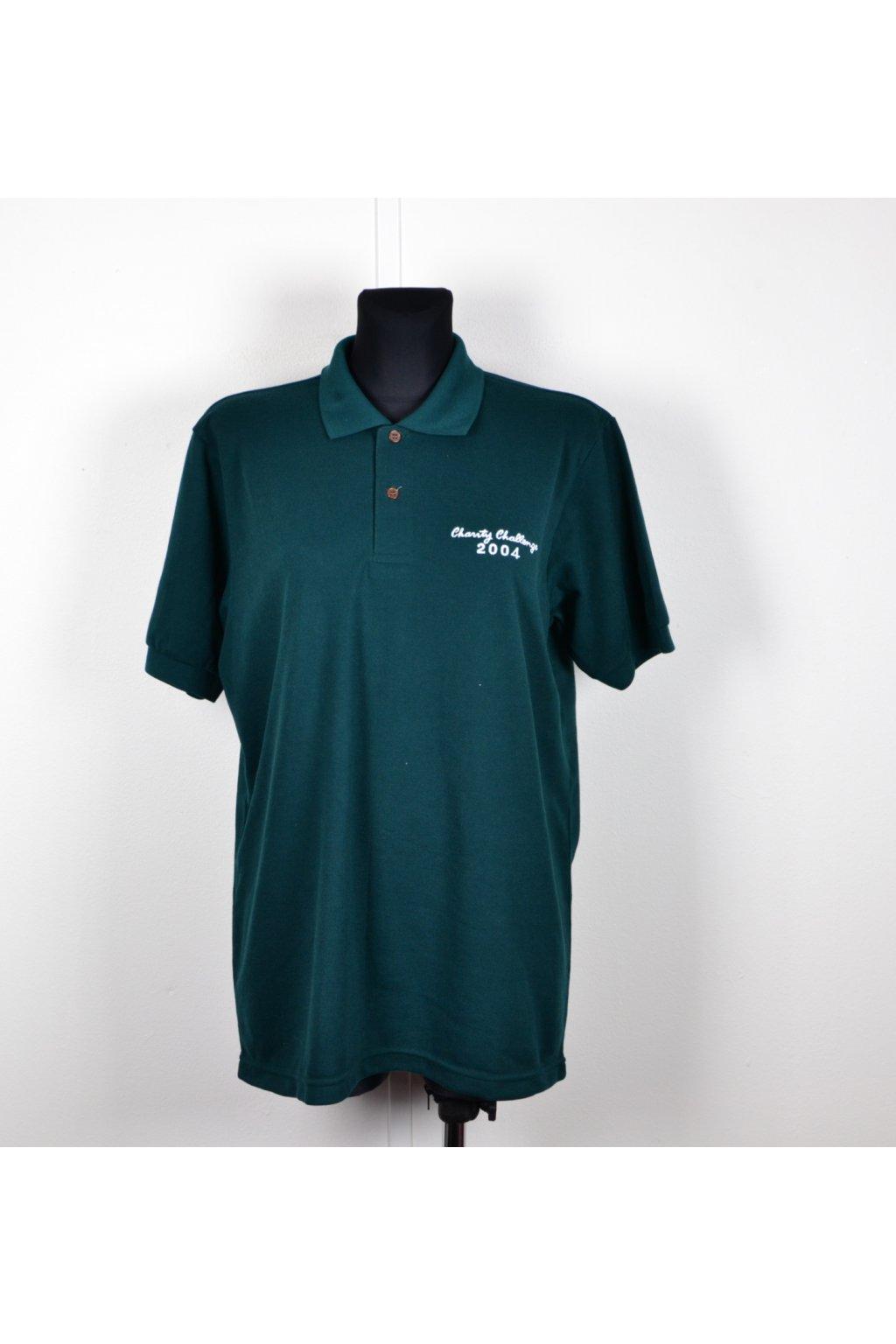 tričko zelené s límečkem L