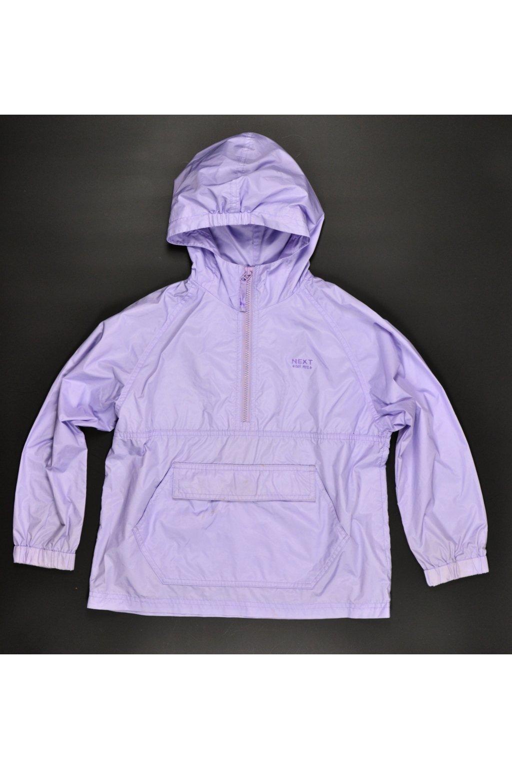 Bunda větrovka pláštěnka Next 128/7-8 fialová