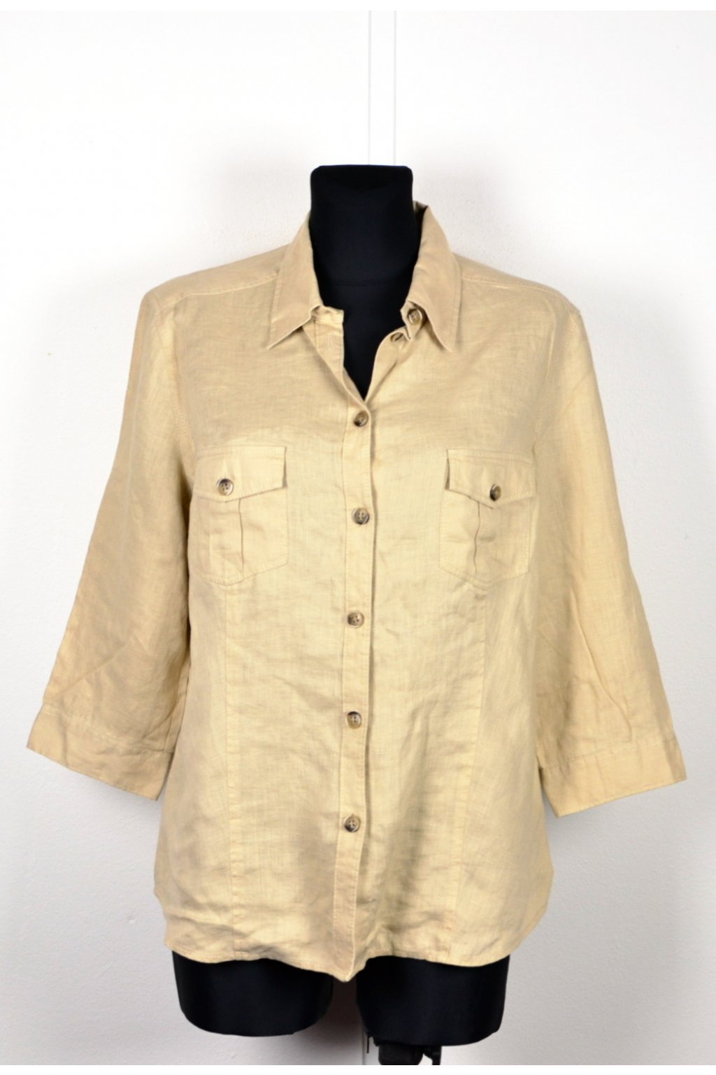 Halenka košile Marco Pecci vel. 44 / L 100% len