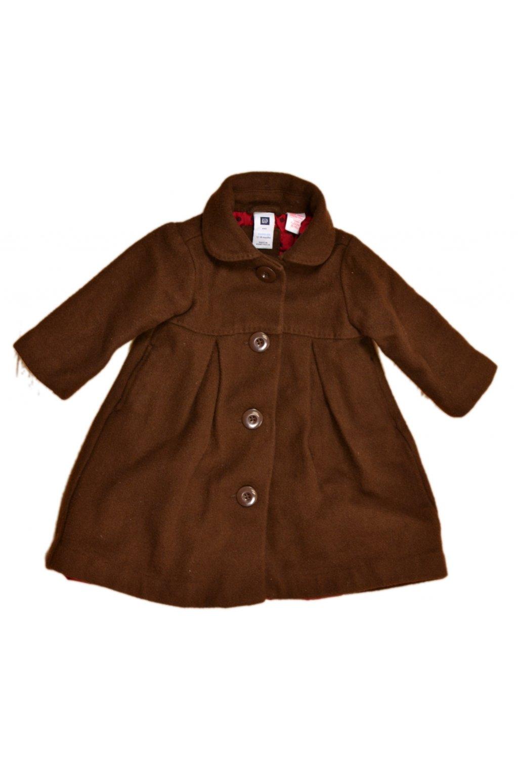 Kabát GAP hnědý 68-74 / 6-9 měs