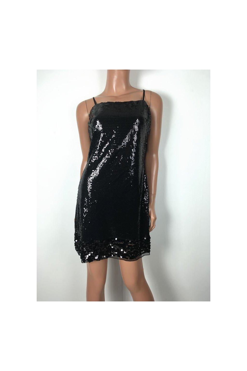 Šaty černé s flitry Rub y Rox vel. S / uk 6