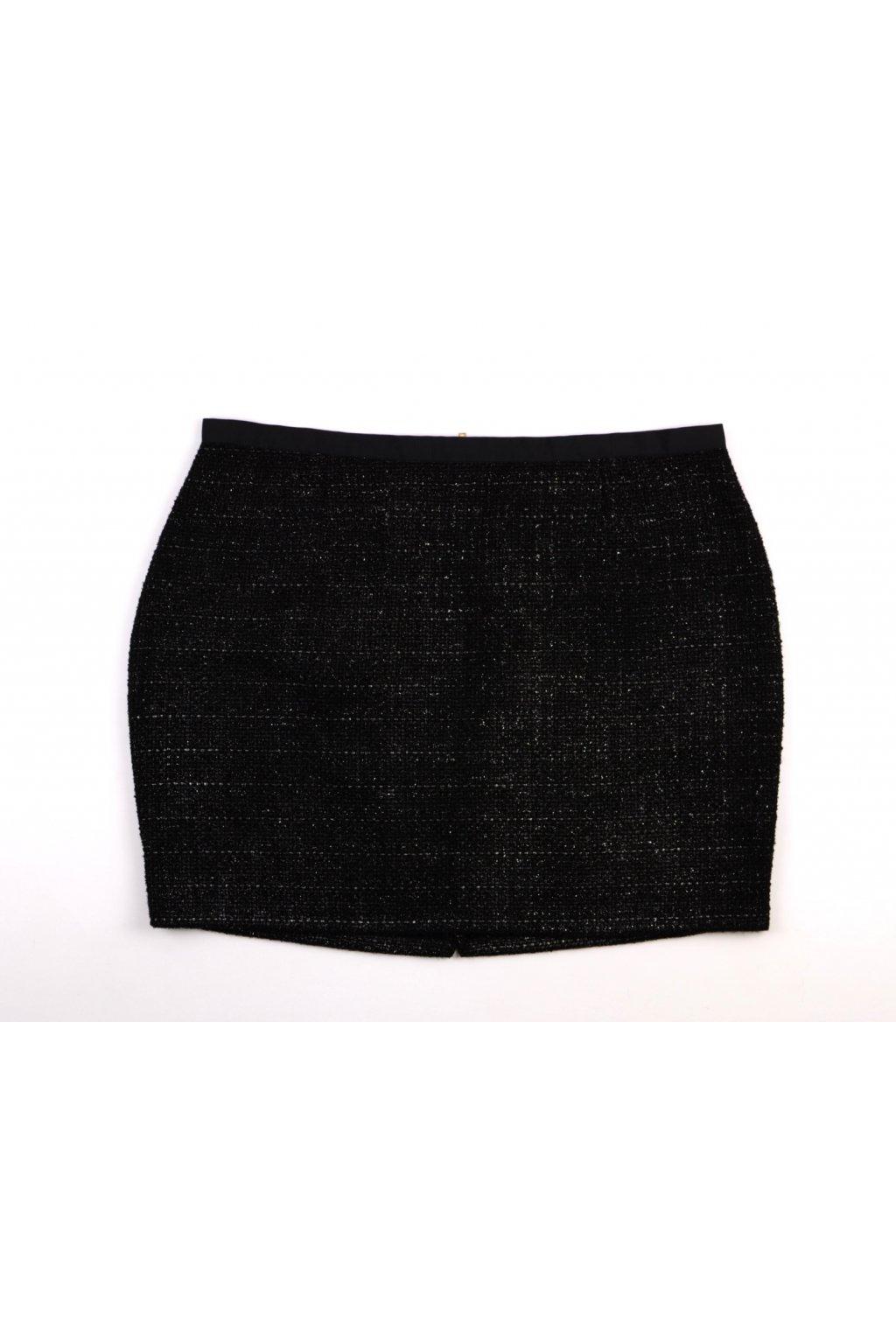 Sukně zimní George černá se stříbrnou nití vel. 48 / uk 20 / XL