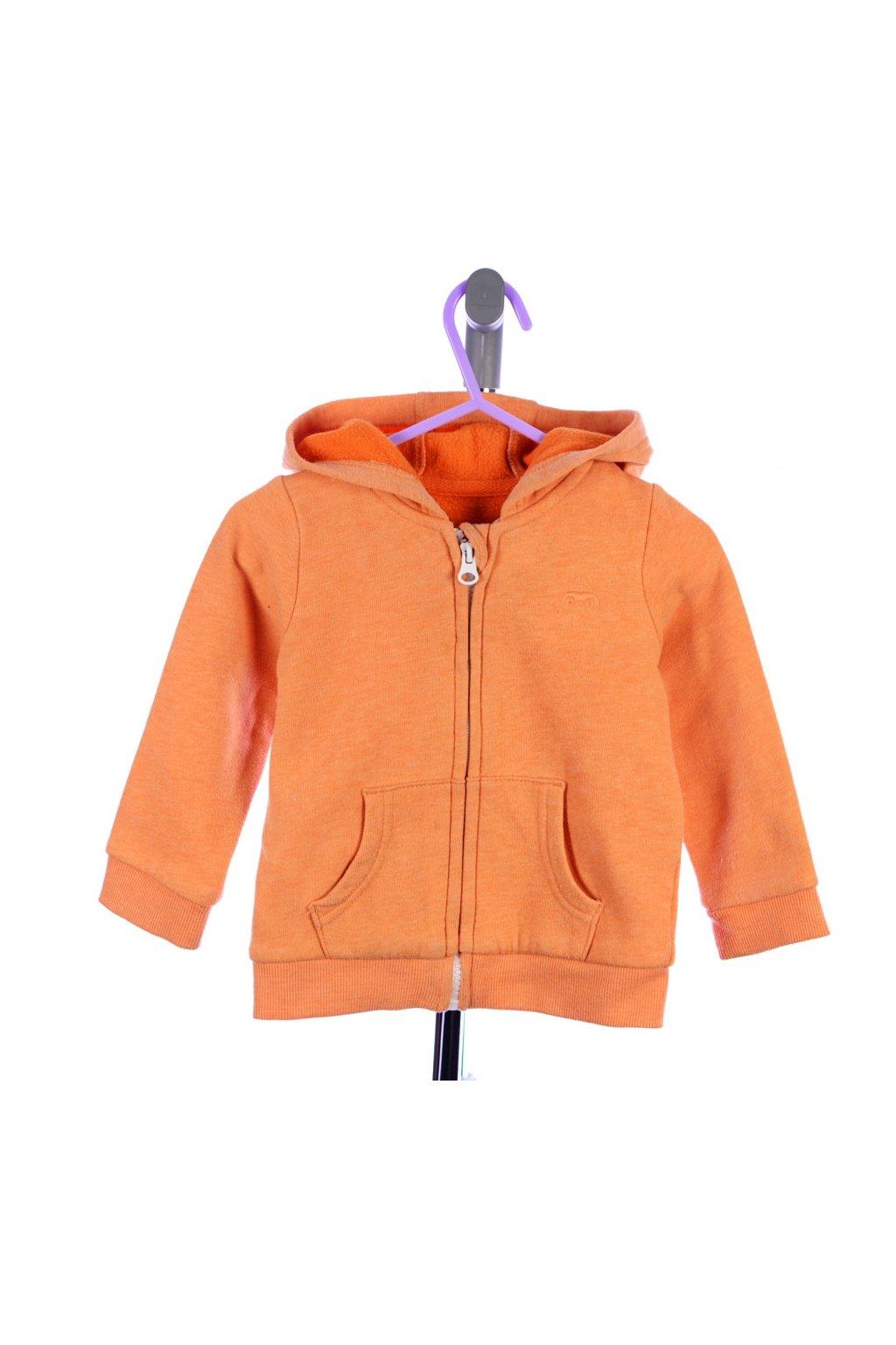 Mikina George 74-80 oranžová