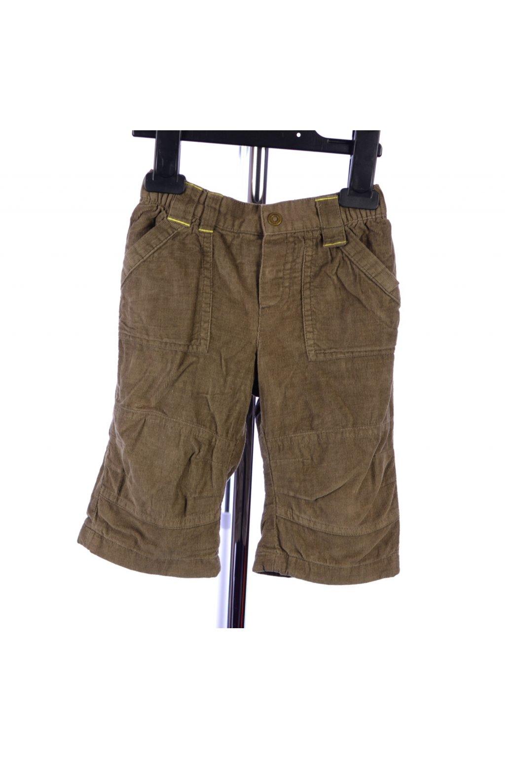Kalhoty manšestrové s podšívkou Vertbaudet vel. 74