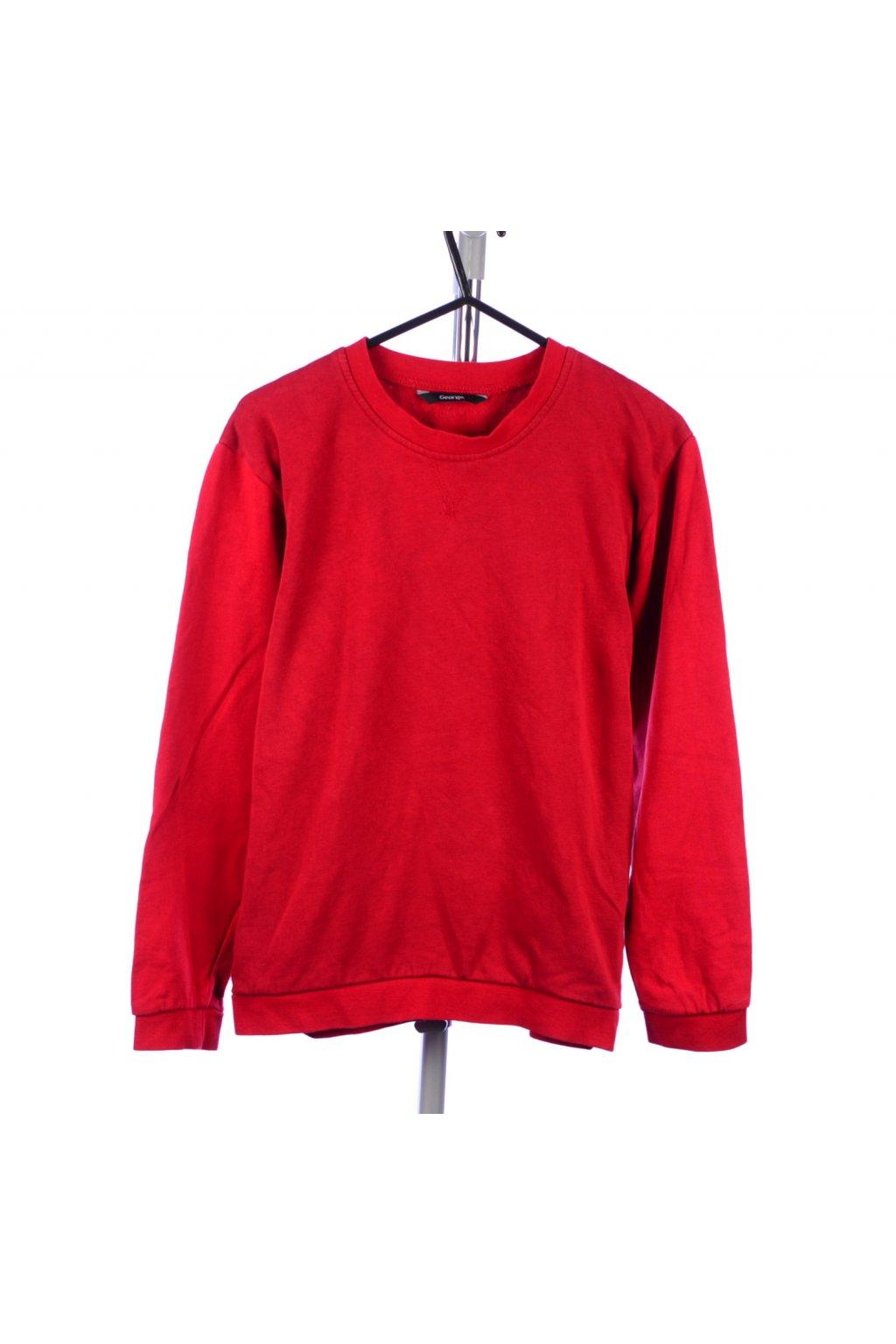 Mikina George červená vel. 146 - 152