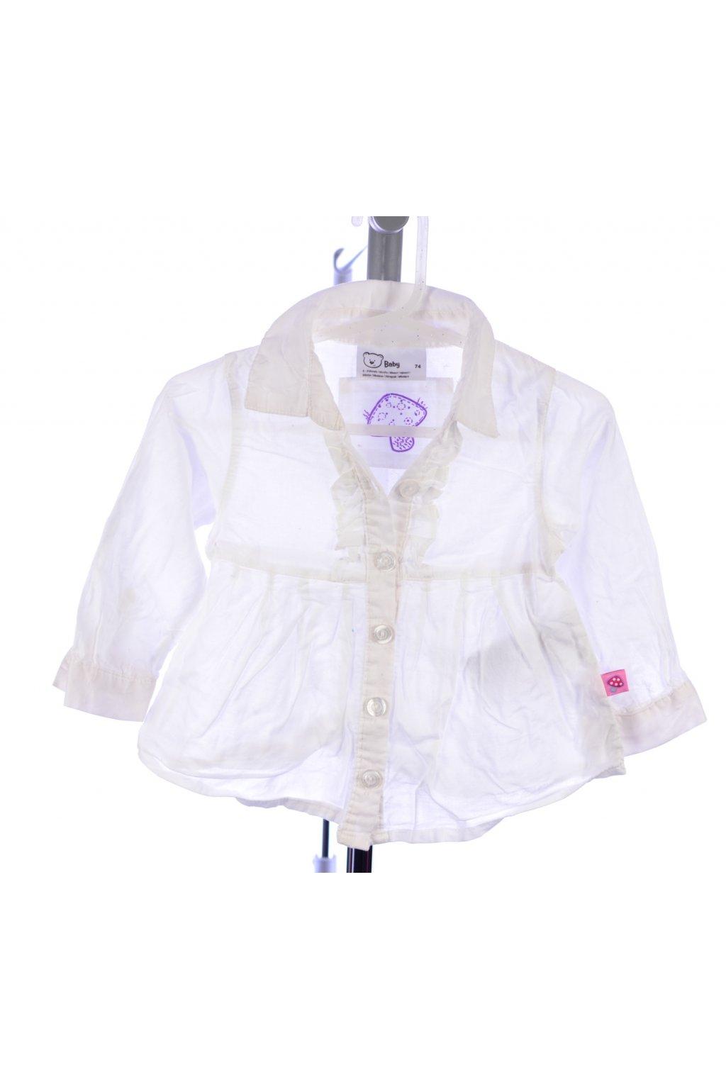 Halenka košile  Baby 74 bílá