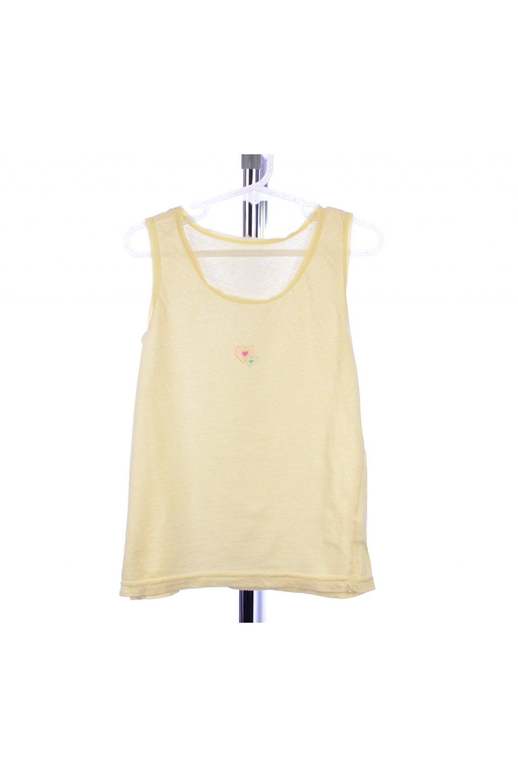 Košilka nátělník Adams 128/7-8 žlutá