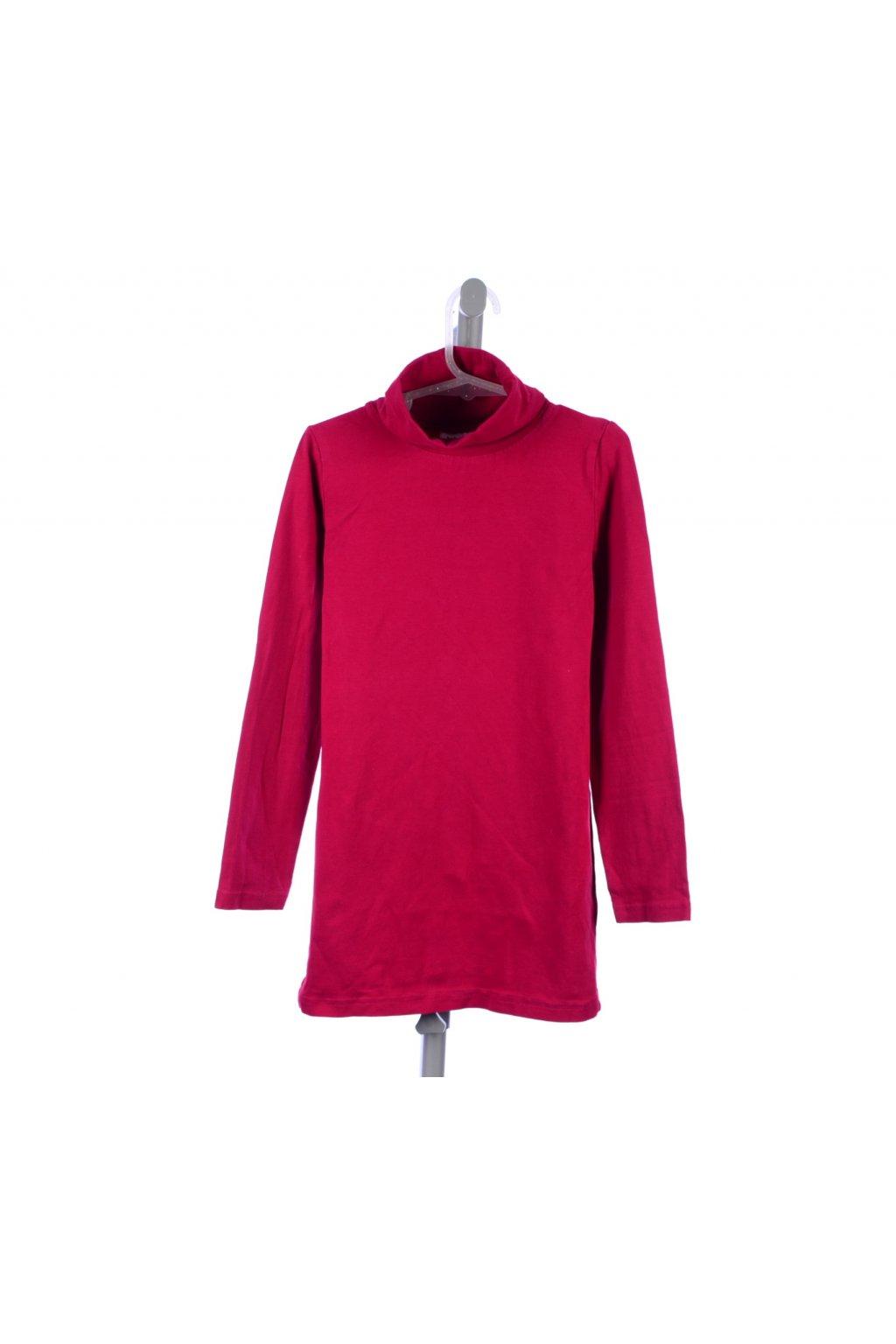 Tričko s rolákem Yigga 128-134 červené
