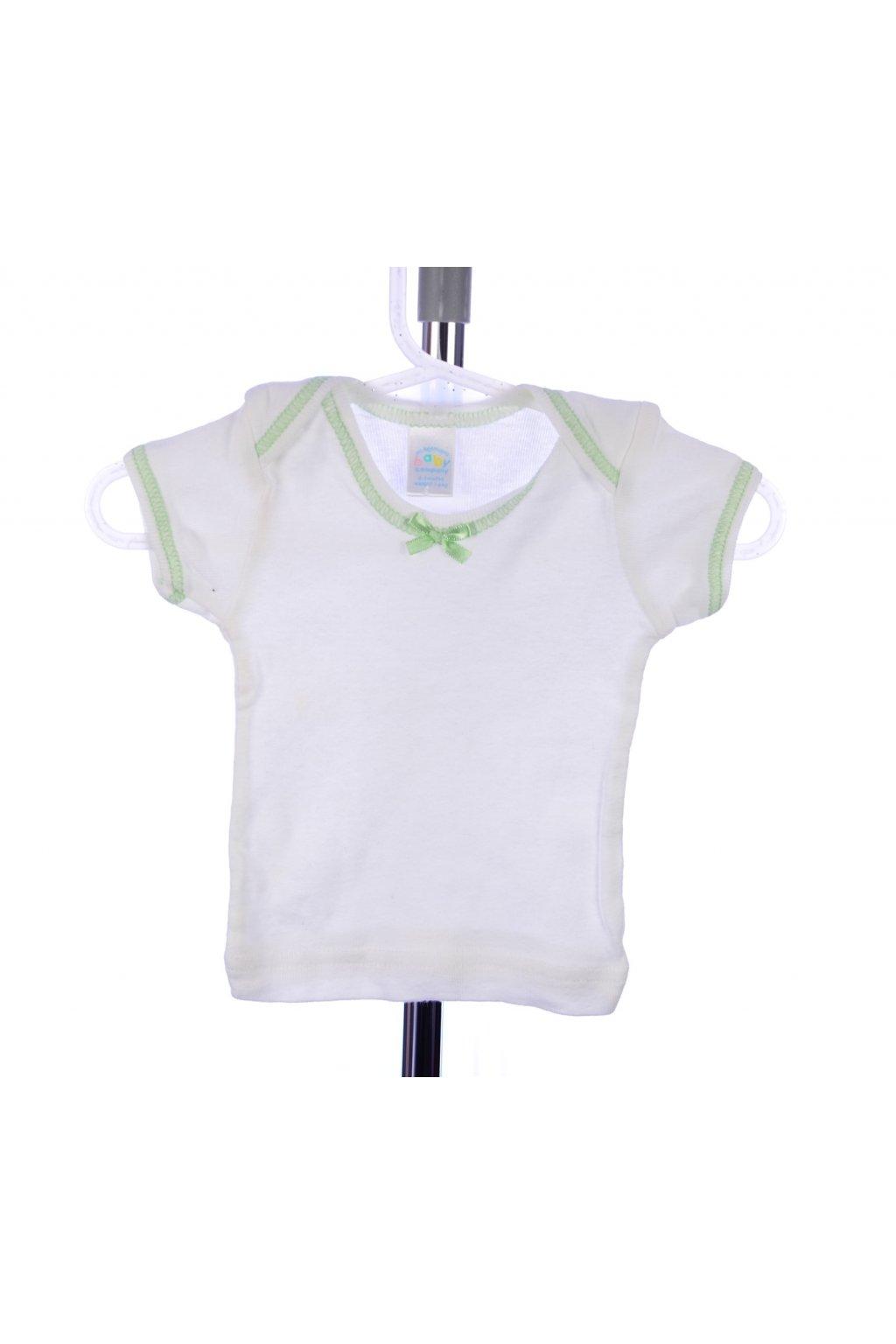 Tričko baby vel. 0-3/ 50-56 bílé