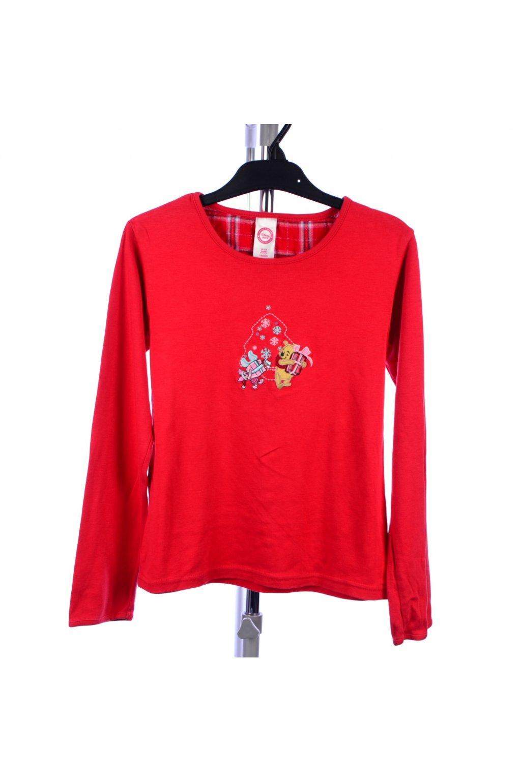 Pyžamo horní díl Disney 9-10/ 140 červené medvídek Pu