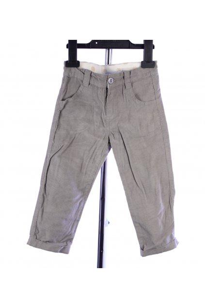 Kalhoty TQF manšestrové vel 86 šedé