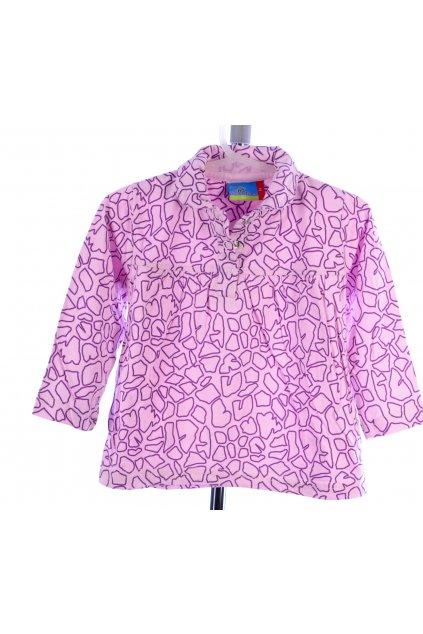 Tričko – halenka topolino vel 86 fialová se vzorem