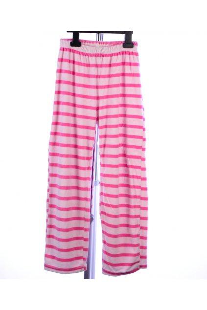 Pyžamo pouze kalhoty Pocopiano 134/140 růžové pruhované