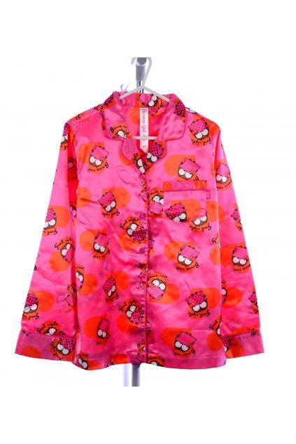 ed0526c8e50b Pyžamo vel 152 158 růžové se sovičkami