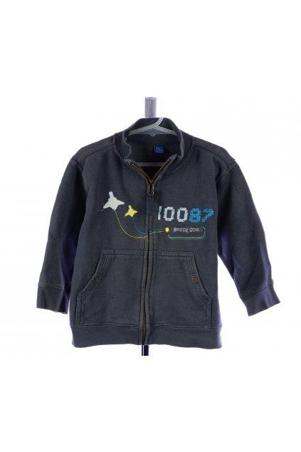Mikina TU šedá 92-98 na zips