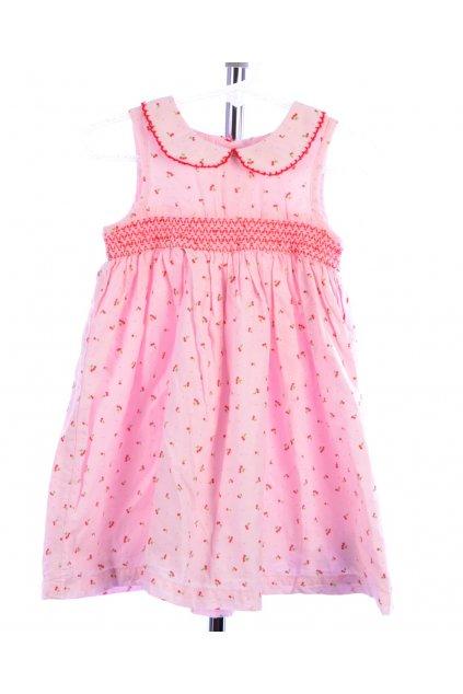 Šaty s třešněmi růžové vel. 80