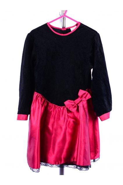 Šaty C&A vel 116 černý samet růžová sukně