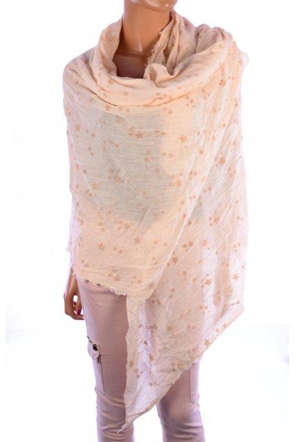 Šátek světle meruňkový hvězdy Esprit