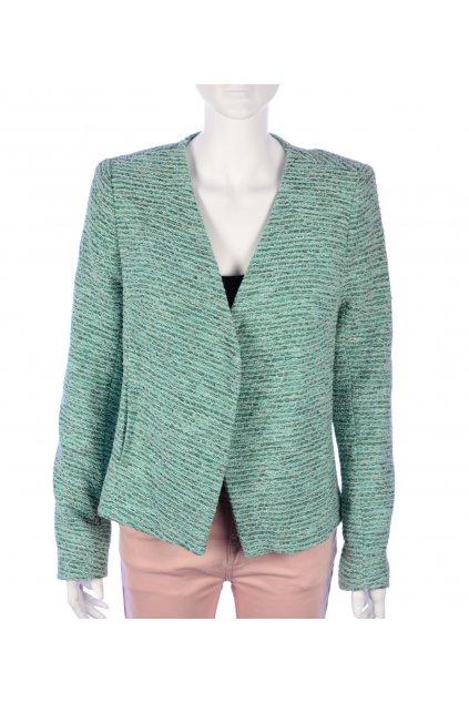 Kabátek sako světle zeleno-šedá melanž Topshop vel. 42 / uk 14 / M