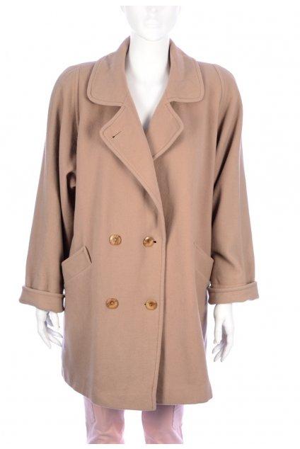 Kabát béžový přechodní Hamells 80% vlna vel. XL vada