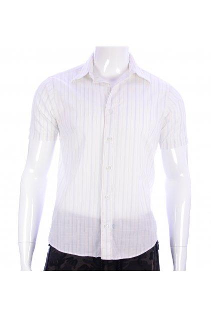 Košile Kickers vel M  bílá s modrým proužkem