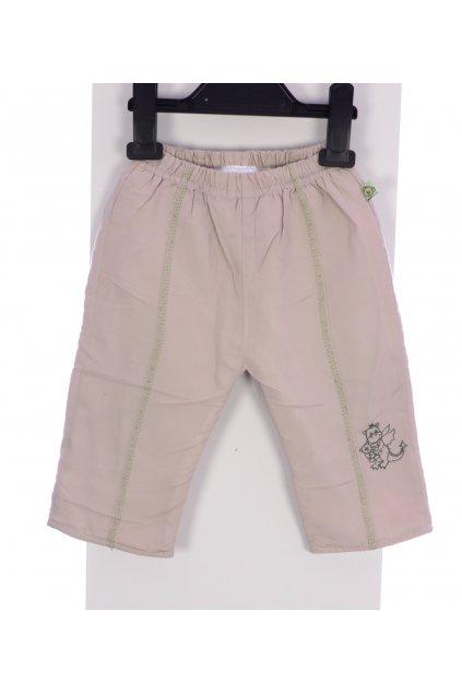 Kalhoty zateplené vel 68  béžové s výšivkou