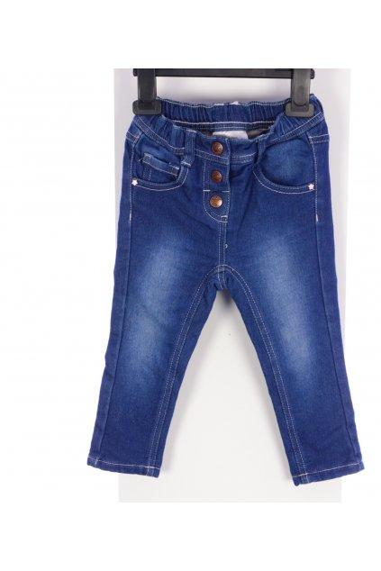Kalhoty Ergee vel 86 modré s knoflíky
