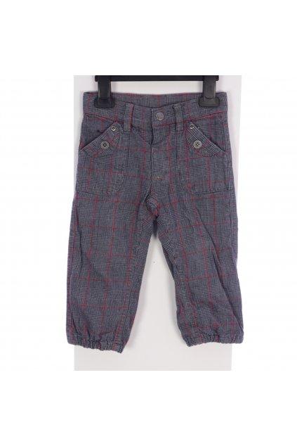 Kalhoty s podšívkou Topolino vel 86 šedé karo