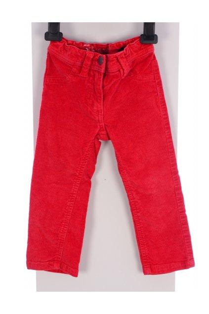 Kalhoty manšestrové vel 92 červené