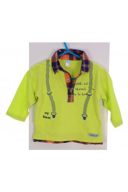 Tričko s límečkem CoolClub vel 74 zelené