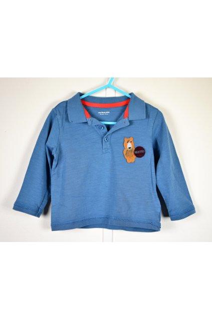 Tričko Vertbaudet vel 92-98 modré s límečkem