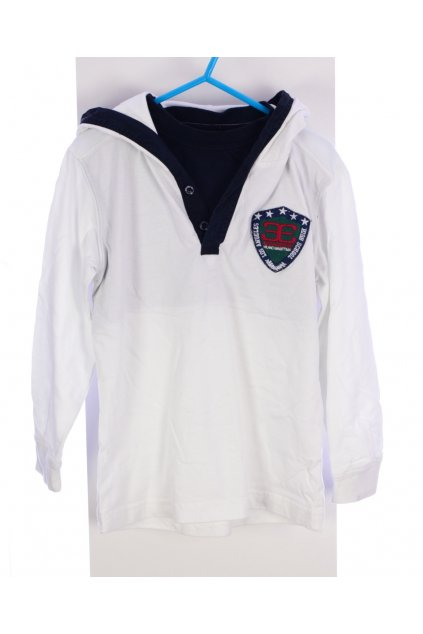 Triko tenká mikina Garment 5-6/116 bílá s kapucí