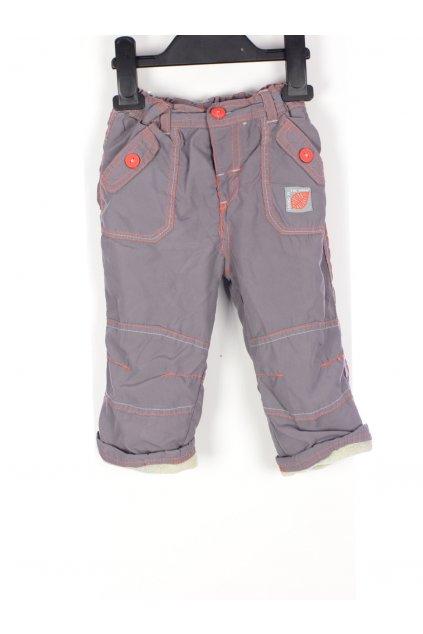 Kalhoty s flísovou podšívkou vel 80 světlé hnědé