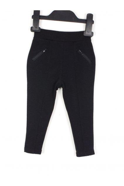 Kalhoty Y.D vel 1,5-2/92 černé se zipsy