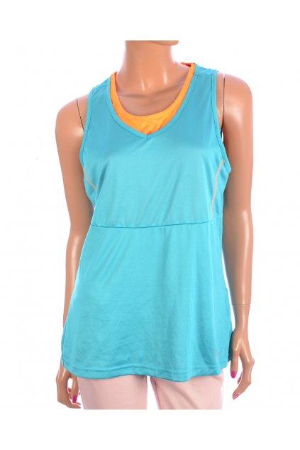 Tričko sportovní Crivit zeleno - oranžové vel. M