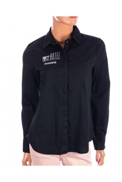Halenka košile černá s nápisem H&M vel. 36 / S