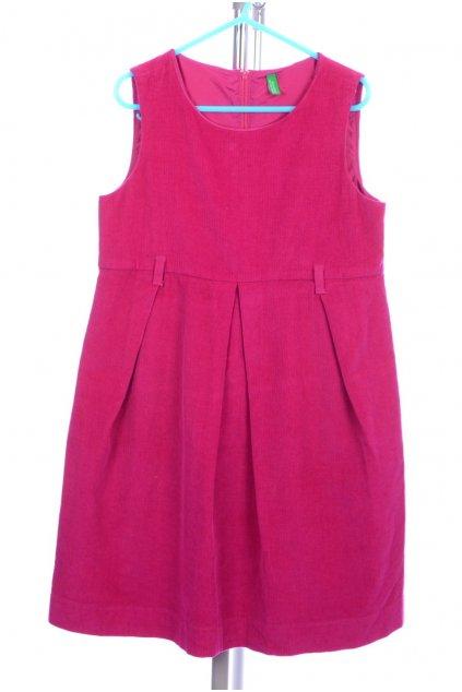 Šaty manšestrové Benetton 7-8/128 růžové