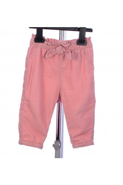 Kalhoty růžové manšestrové H&M vel. 74 / 6 - 9 m