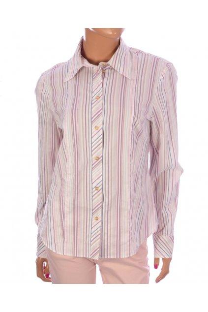 Halenka - košile Gerry Weber vel M růžová pruhovaná