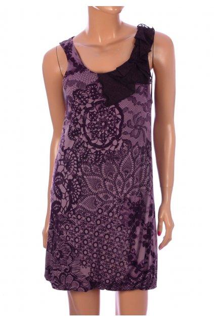 Šaty Zero vel S tmavě fialový vzor