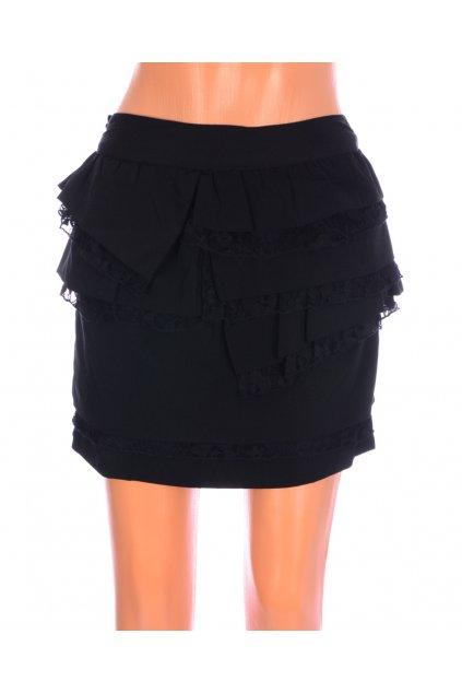 Sukně černá s krajkou Orsay vzadu zips vel. S